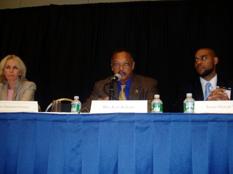On panel with Rev. Jesse Jackson