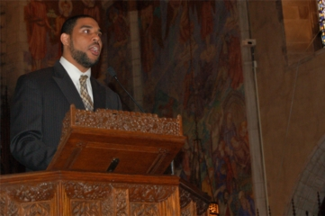 Dawud Walid giving speech